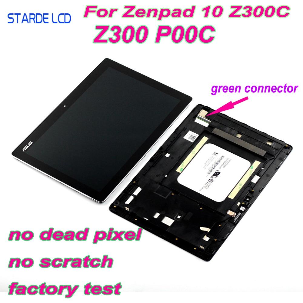 AAA LCD pour Asus ZenPad 10 Z300 Z300C Z300CL P00C P023 connecteurs verts Z300CNL P01T LCD écran tactile numériseur cadre