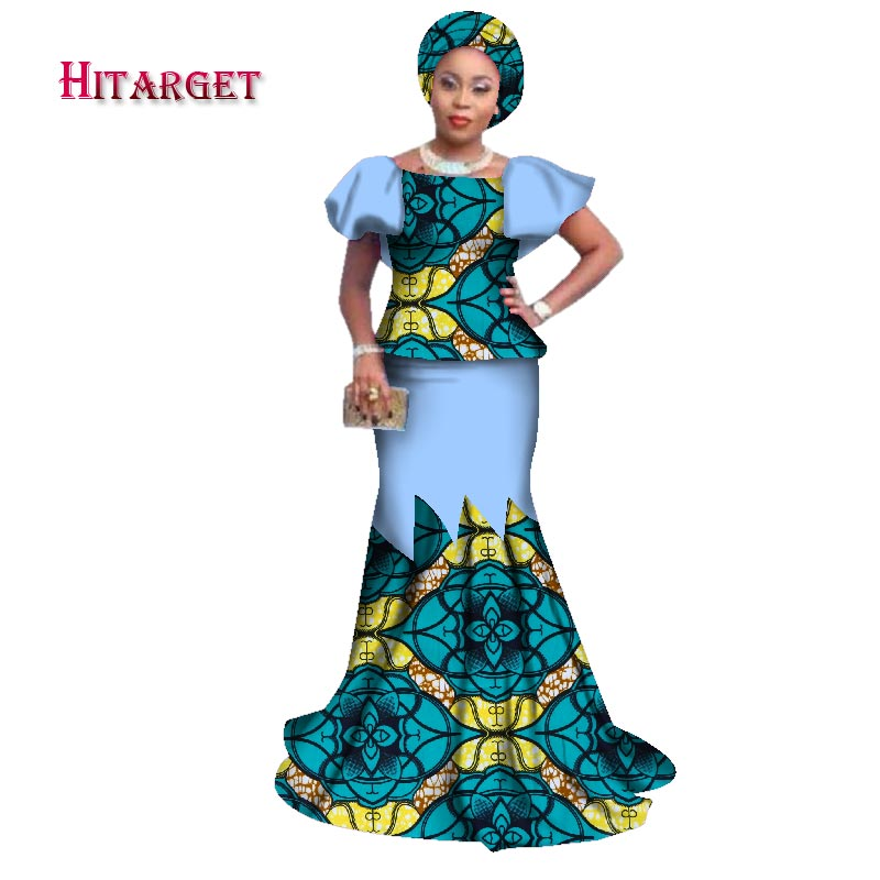 Hitarget 2019 african bazin riche dresses for women fashion new design african women patchwork clothing african clothes WY2379 in Africa Clothing from Novelty Special Use