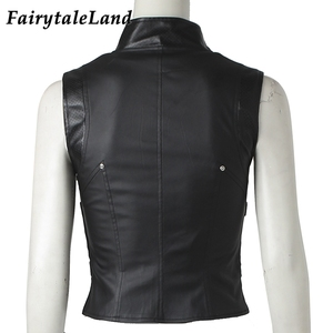Image 5 - Avengers Gamora Costume Cosplay Halloween Superhero Gamora Jacket Black Vest Custom Made Gamora Coat
