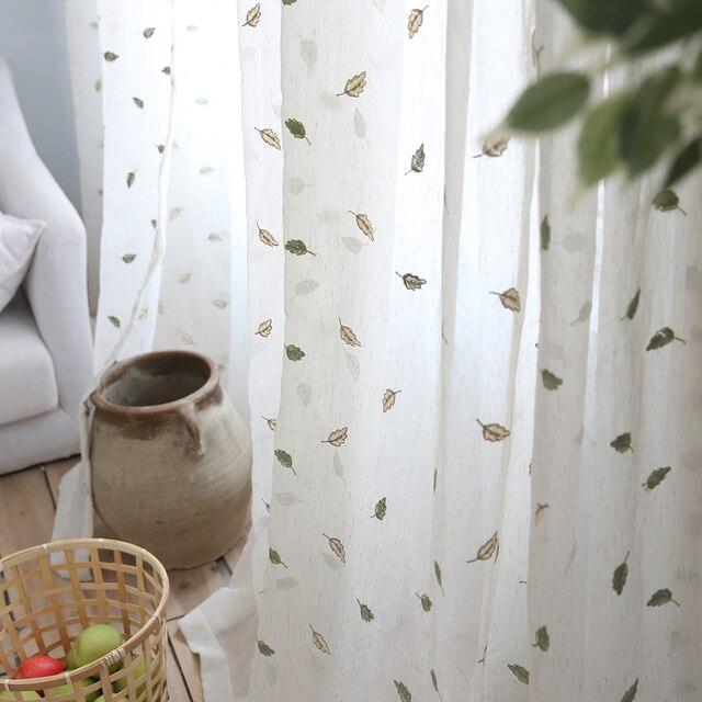Warme Herbst Garten Baumwolle Und Leinen Vorhange Vorhange