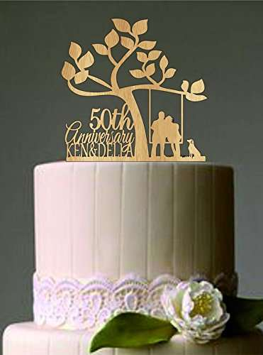 Rustic Country Tree 50th Anniversary Personalized Couples Wedding