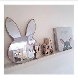 Nowy styl skandynawski drewniana chmura Mirrow Bunny ozdoba do powieszenia na ścianie skandynawski styl dekoracje ścienne styl skandynawski dekoracja dla dzieci