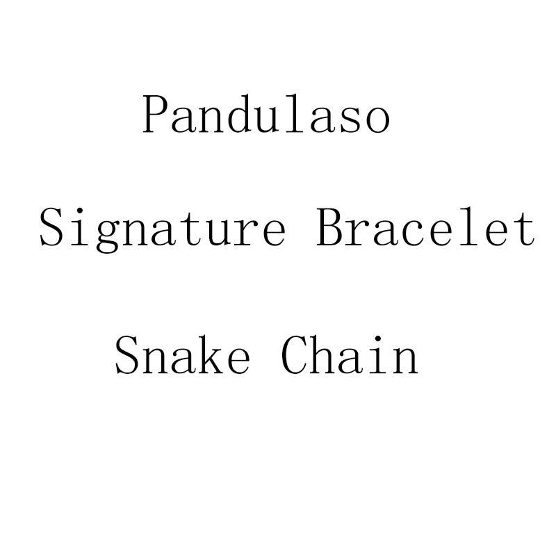 Pandulaso Signature Bracelet Base Snake Chain for woman DIY beads for Jewelry making 925 original sterling silver bracelets цена