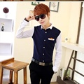 2016 best goods  Men's Shirts Han Fashion Cultivate Matching One's Men's Long-sleeved Casual