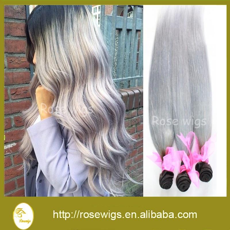 Cheap human Peruvian Virgin Hair Straight Ombre Hair Extension 3pcs Bundle Ombre weave Virgin Human Hair Weave Free Shipping