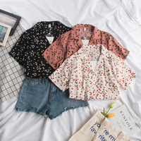 a201bff4b7 Sweet Lovely Heart Printed Shirt Summer 2019 Short Sleeve Loose Casual  Vintage Women Japan Style Chiffon