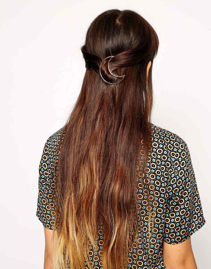 Горячие Преувеличенные ретро Мода Треугольник Луна цинкового сплава украшения для волос оптом свадебные аксессуары для волос; свадебные 2017