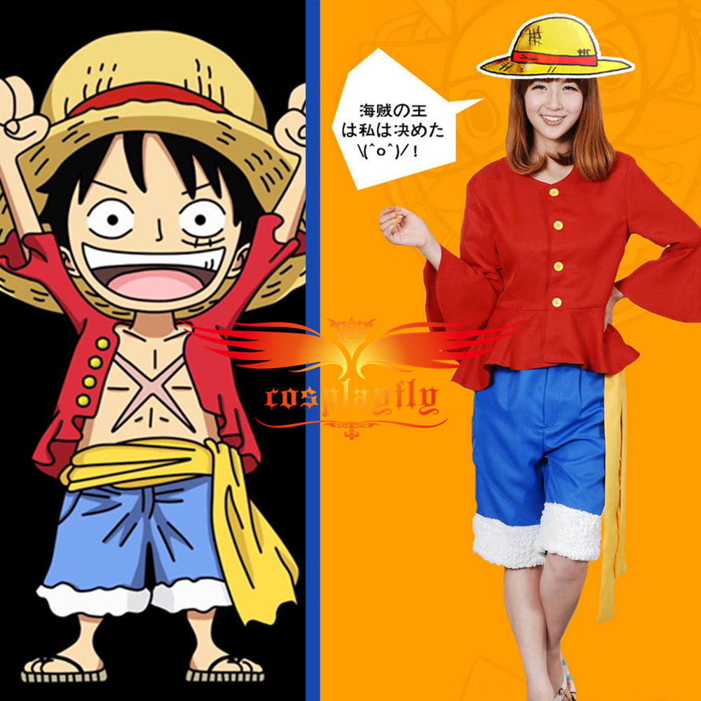 Novelty & Special Use Anime One Piece Cosplay Cartoon Halloween Cos Monkey D Luffy Cosplay Unisex Costumes Top+pants+hat