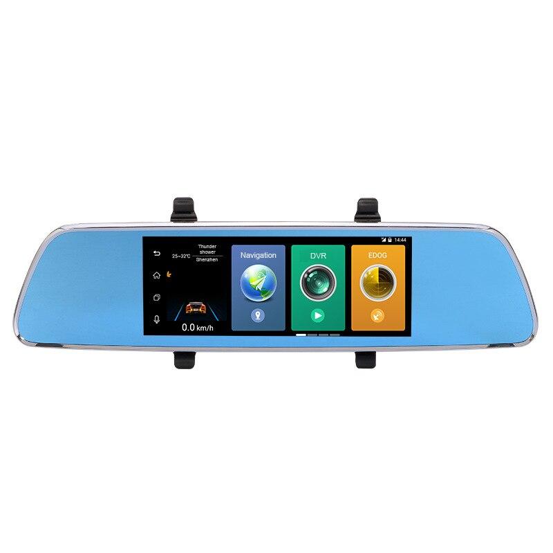 """""""7"""""""" цикла записи камеры автомобиля DVR 3 в 1 беспроводной заднего вида заднего вида зеркало видеорегистратор Радар-детектор автомобильный видеорегистратор андроид GPS и Bluetooth"""""""