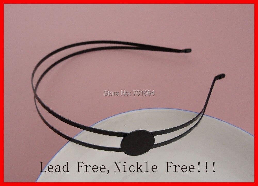 Diademas para el cabello de alambre de metal de 3 mm negro liso 5PCS - Accesorios para la ropa