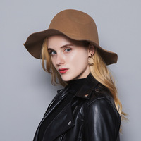 Autumn winter new woman hat European and American classic outdoor travel big eaves woolen men and women performance hat MZ 10