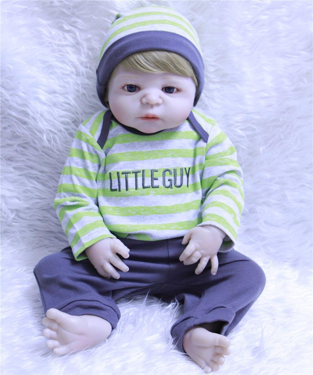 DollMai 23 Bebes reborn boy dolls whole silicone body dolls reborn baby toy doll gift fake