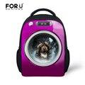 Hot sale 3d printing children backpack for baby girls cute animal dog cat kids pack mochila child mini bags bagpack infantil