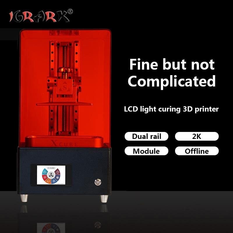 Igrark lcd luz cura impressora 3d sla/dlp resina fotossensível jóias mão modelo impressora