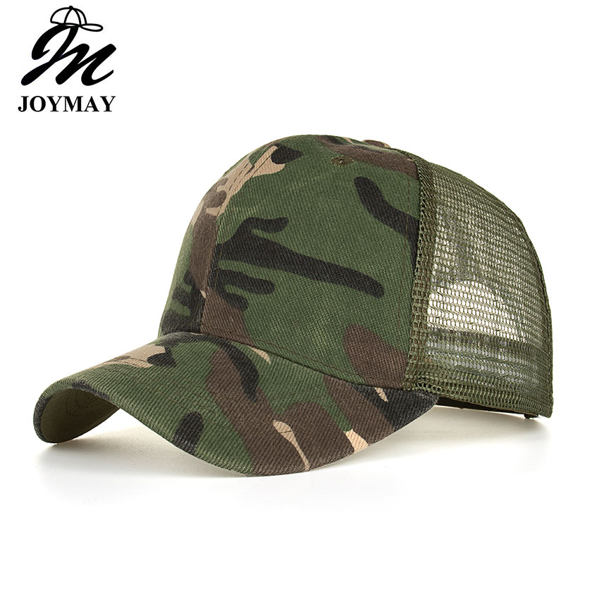 JOYMAY 2018 Spring summer New Sun hat Fashion style Man cap Camouflage Mesh Baseball Cap Casual leisure hat B530