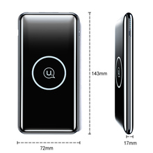 Dual USB Wireless Power Bank, USAMS 10000mah