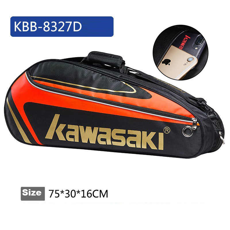 Kawasaki Tennis Bag Single Shoulder Bag 1-3 Badminton Rackets Tennis Racket Bag Badminton Racquet Bag Men Tenis Training Pack