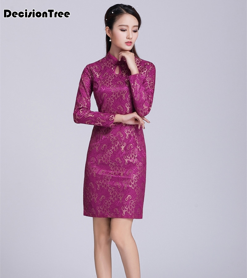 aa700f67b ... 2019 new red chinese wedding dress female long short sleeve cheongsam  gold chinese traditional dress women qipao for wedding. -18%. Click to  enlarge