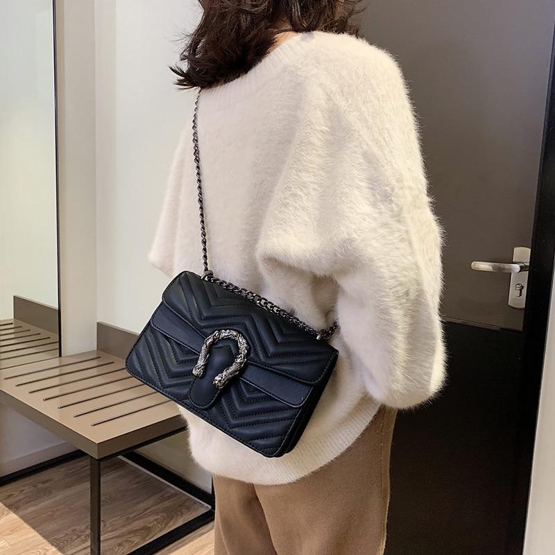 Mode grand rabat sacs sacs à main femmes marques célèbres Designer sacs à bandoulière femmes sacs à bandoulière 2018 chaînes dames sacs à main
