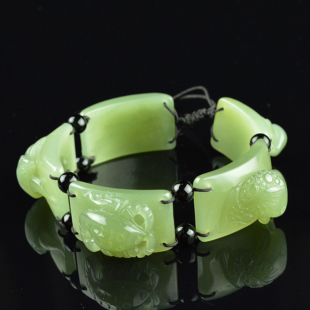 Natural Hetian Jade Ruling Bracelet Men S