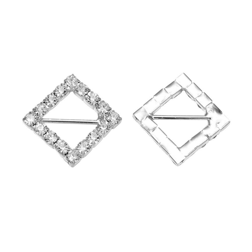 20 мм ромб кристалл горного хрусталя пряжки для свадебного украшения Пригласительный билет(BCL-3024