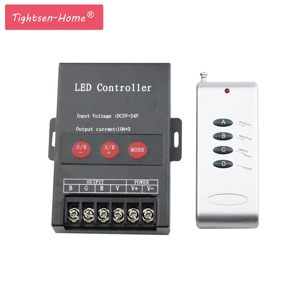 30A RF RGB Controller 4 Keys 360W for Led Strip Dimmer Wireless Remote Control Switch for 5050 3825 RGB LED Strip Light DC5~24V30A RF RGB Controller 4 Keys 360W for Led Strip Dimmer Wireless Remote Control Switch for 5050 3825 RGB LED Strip Light DC5~24V