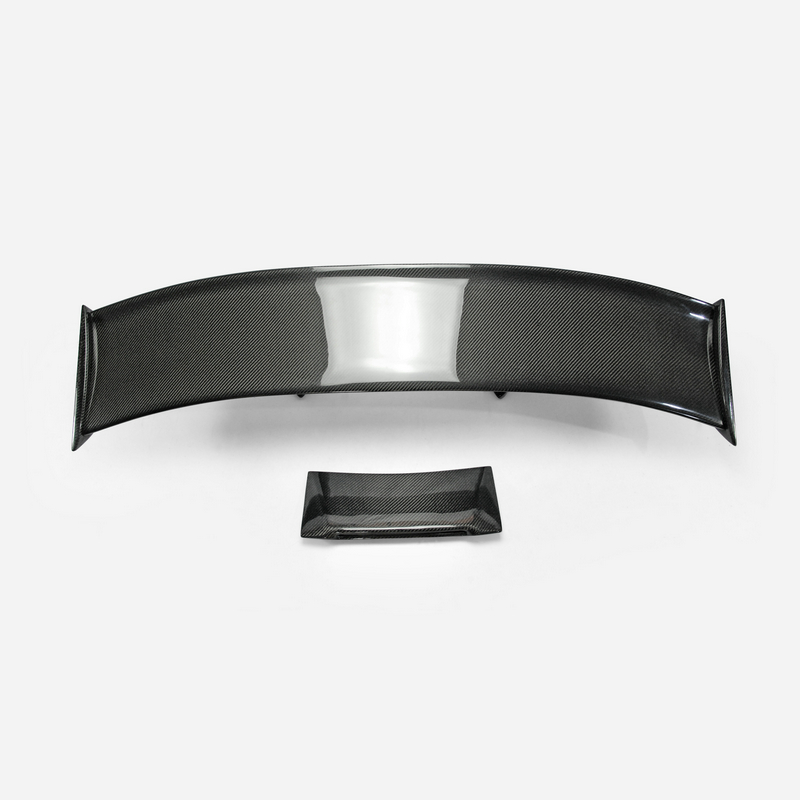 Car Accessories For Nissan <font><b>R35</b></font> <font><b>GTR</b></font> N-ATTK Style Carbon Fiber <font><b>Rear</b></font> <font><b>Spoiler</b></font> (Included Light) Glossy Finish Trunk Wing High Leg Kit image