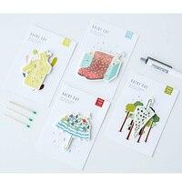 40 Pcs Lot Rainy Day Memo Pad Sticky Note Decorative Diary Sticker Bookmark Wholesale Stationery Office