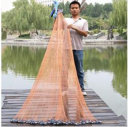 2.4M-7.2M Fishing Net USA Style Cast Network With sinker and without sinker Sports Hand Throw Fishing Net Small Mesh Cast Net