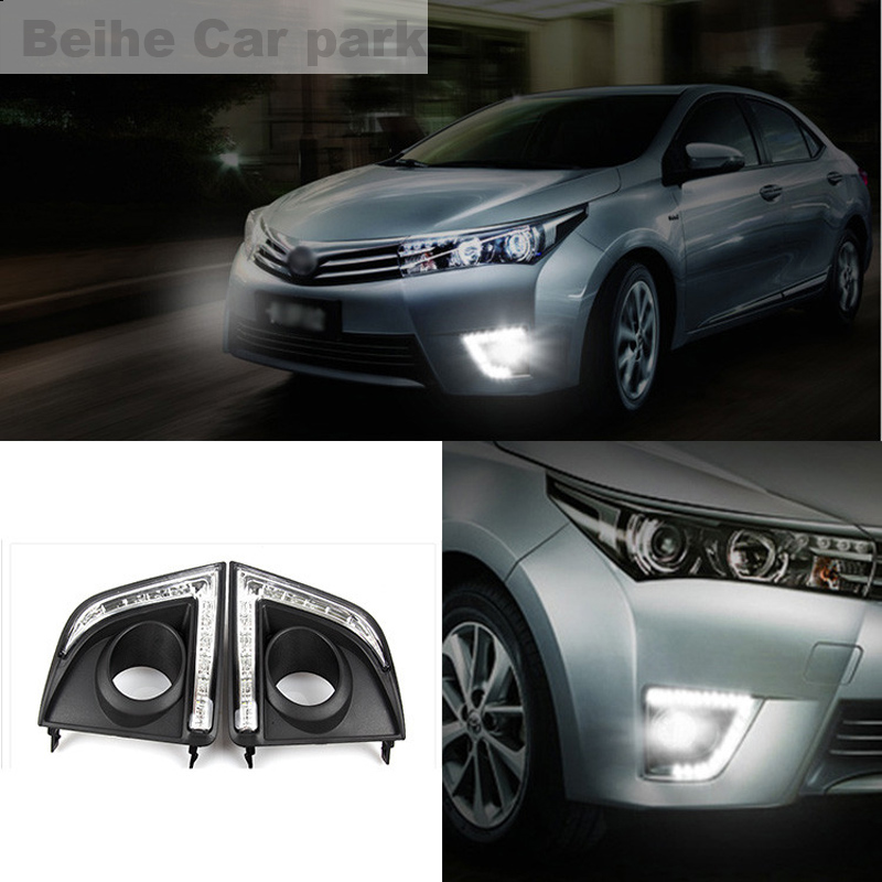 2pcs For Toyota Corolla 2014-2016 High quality Car styling New LED DRL Car-special LED Daytime Running Light car styling auto headlight headlamp for toyota corolla 2013 2014 2015 bifocal lens guiding light best quality daytime running