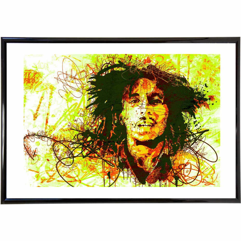 Abstract Colorful Bob Marley Vintage Retro Posters and Prints Home ...