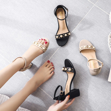 Fashion Elegant Women Sandals 7cm High Heels Sandals Apricot/Black Spring/Summer Female Shoes Casual Lady Shoes Woman Footwear 2019 concise women platform sandals high heels wedges sandals summer apricot black female shoes casual lady shoes woman footwear