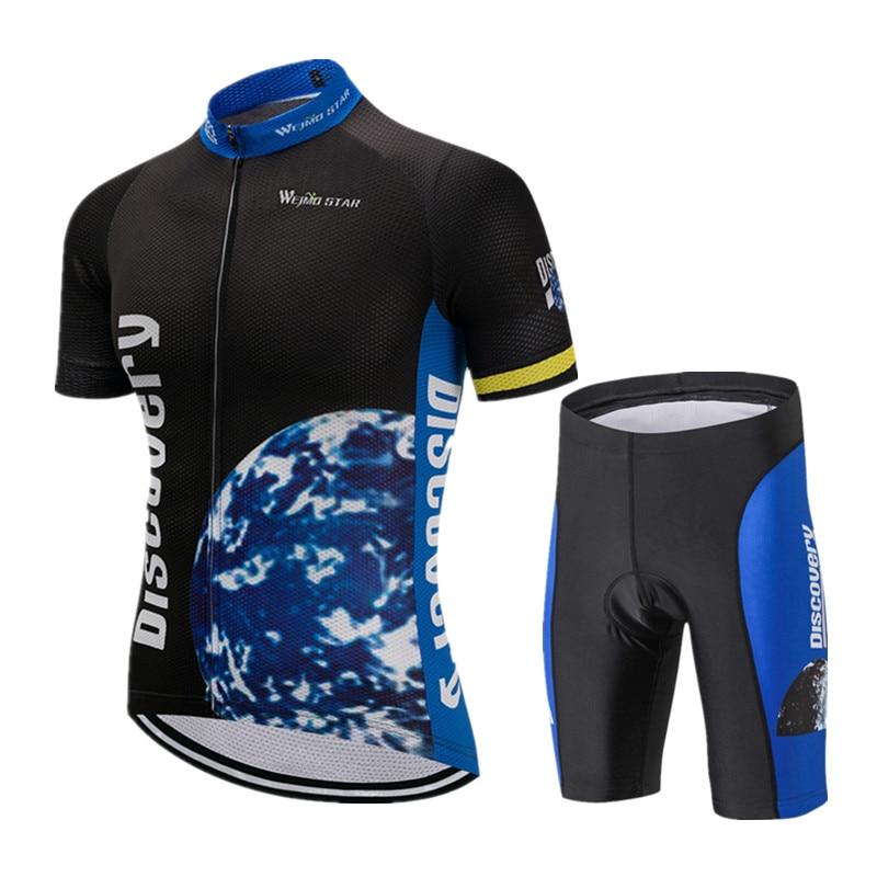Spor ve Eğlence'ten Bisiklet Takımları'de Weimostar Keşif Bisiklet Giyim 2019 Pro Takımı Bisiklet Jersey Seti Yaz Dağ Bisikleti Giyim Kısa Kollu Bisiklet Kıyafetleri