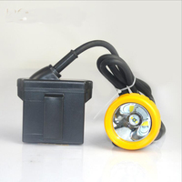 3W 10000 Lx Lithium Battery LED Miner S Light CE Exs I Certification Mining Cap Lamp