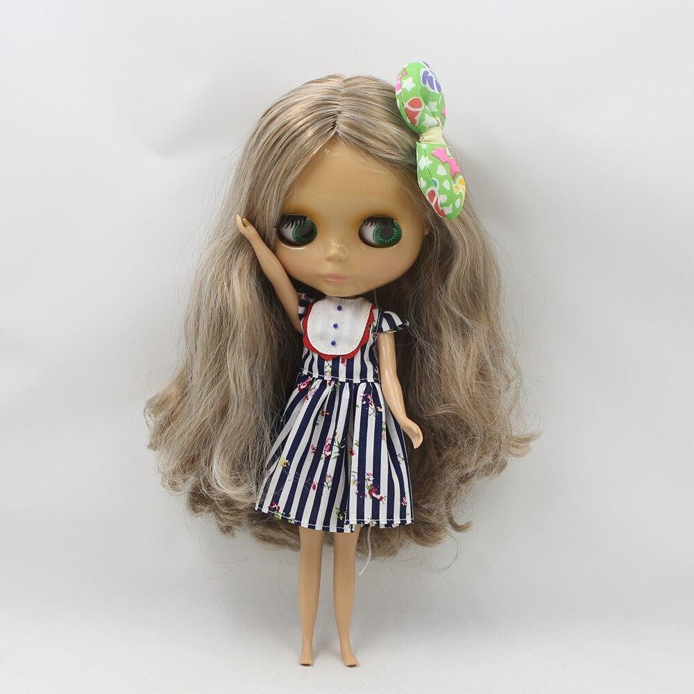 สีน้ำตาลผสมสีขาวผมยาวหยัก blyth ตุ๊กตา 230BL340/0623 nude ตุ๊กตาปกติ body tan ผิว sunshine ผิวเล็ก-ใน ตุ๊กตา จาก ของเล่นและงานอดิเรก บน   2