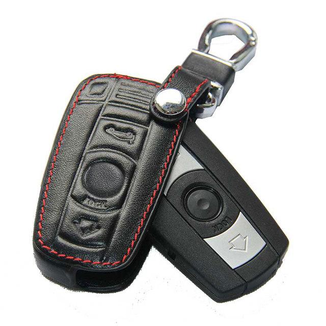 For Bmw Leather Case For Bmw E90 E30 E60 E34 E36 E38 E39 E46 118 220 M235 320 328 428 435 528 X1 X3 Chaveiro Black Key Cover