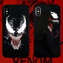 The Film Marvel Venom Phone Cover Case For Iphone X Xs Max Xr 10 8 7 6 6s Plus Luxury Personality Soft Silicone Coque Fundas