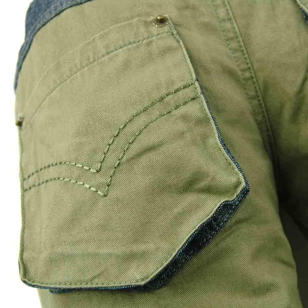 Kualitas tinggi 3-7Y Anak Army Hijau Celana garis bordir Kasual Boy - Pakaian anak anak - Foto 4