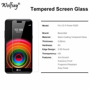 Image 4 - 2Pcs Voor Glas Lg X Power Gehard Glas Voor Lg X Power Screen Protector Voor Lg X Power Beschermende film Voor Lg Xpower Wolfsay