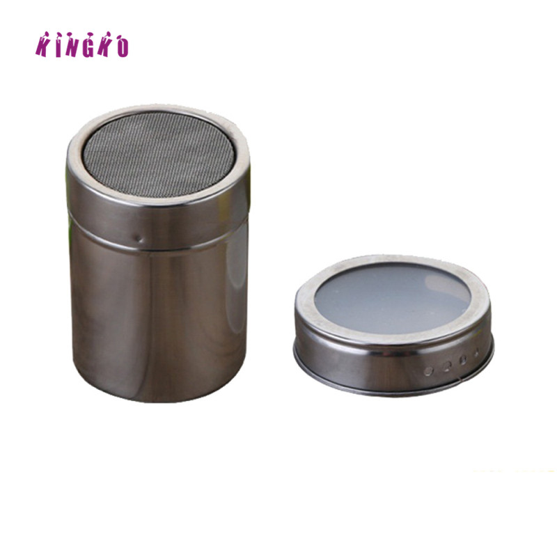 Kingko Durable Stainless Steel Condiment Bottles Magnetic Spice Storage Jar Tins Container With Rack Holder Portable Barbecue 1p