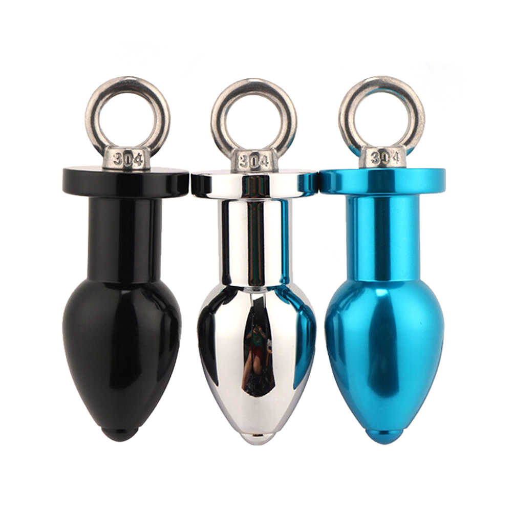 2019 Aluminum alloy Ring Tail Anal Shower Enemator Shower Anal Butt Plug Head Enema Nozzle Anal Cleaning Men Anal Plug Toy party
