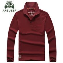 battlefield Jeep men's autumn new long-sleeved t-shirt lapel T-shirt men's AFS JEEP 1202