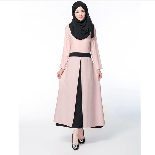 2016 Ограниченное Продвижение Взрослых Мода Джилбаба Абая сплошной цвет шить И Abayas Мусульманин Исламская Арабских Женщин Платье W618