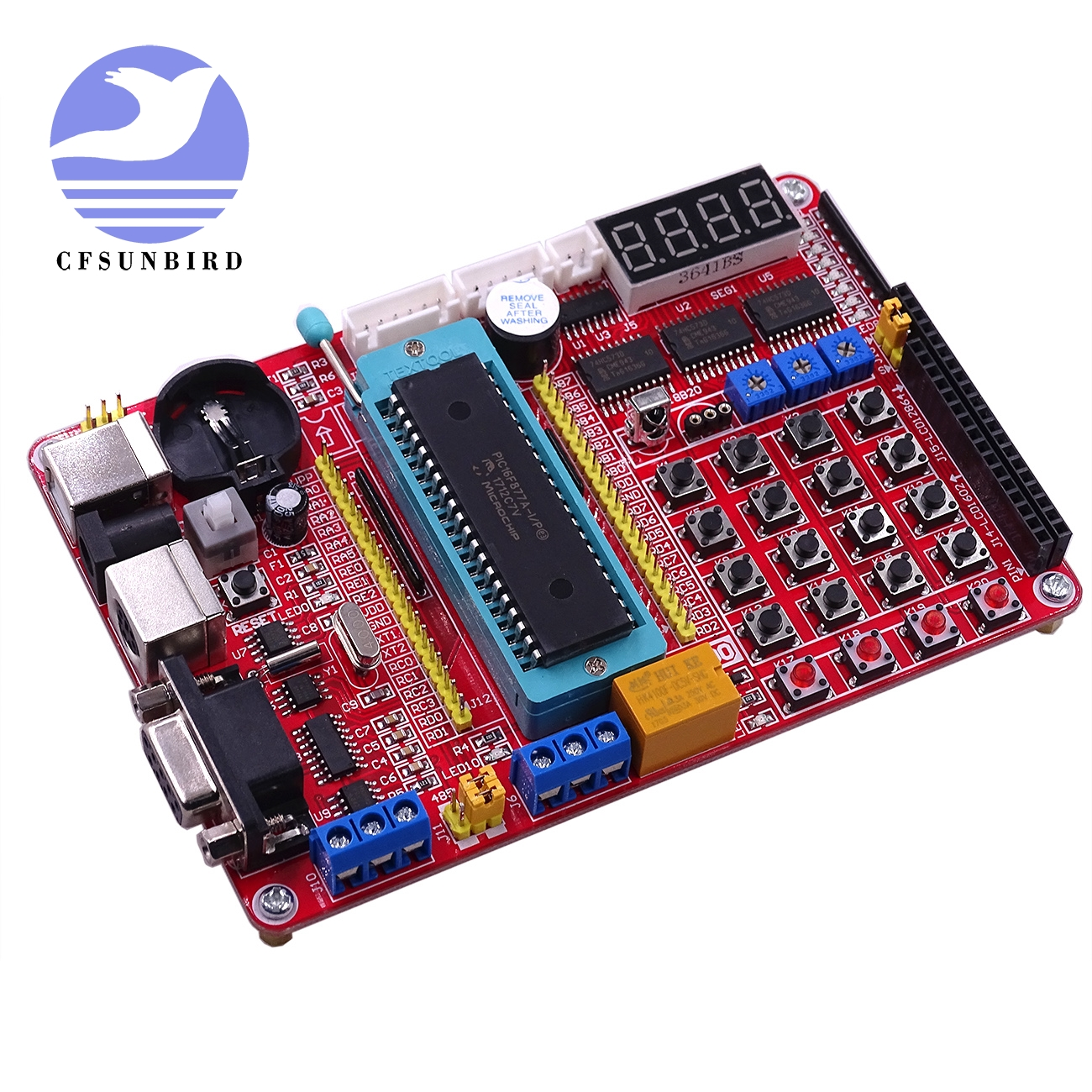 PIC MCU Development  Mini System PIC Development Board + Microchip PIC16F877A + USB Cable(China)