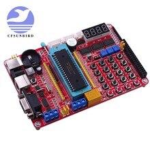 Placa de desenvolvimento pic mcu, mini sistema de placa de desenvolvimento pic + cabo usb de microchip