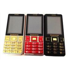"""Súper fuerte sonido larga espera Dual SIM GSM teléfono móvil mayor 5505 grande de la antorcha 3.0 """" táctil fuente de pantalla grande viejo gente teléfono"""