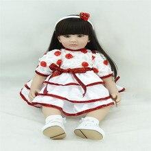 22 inch 55 cm reborn Silicone dolls lifelike doll reborn babies toys Pretty cute dress doll