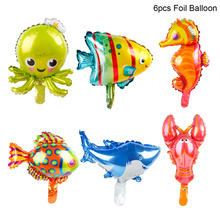 QIFU Sea Animal Foil Balloon Animal Ballons Birthday Party Decor Kids Birthday Under The Sea Party Decor Shark Party Supplies