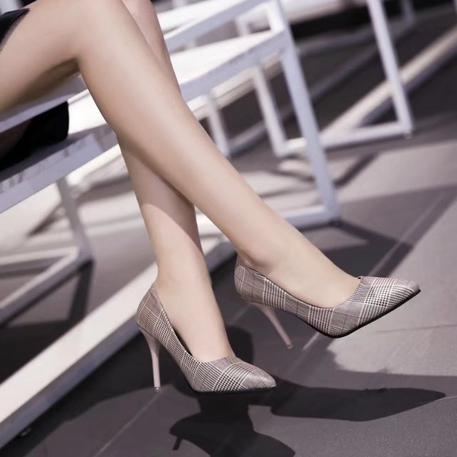 ZHENZHOU Women Pumps 2018 Spring and autumn thick with pointed high heels, thick with new women's shoes, shallow mouth shoes quarterback your investment plan