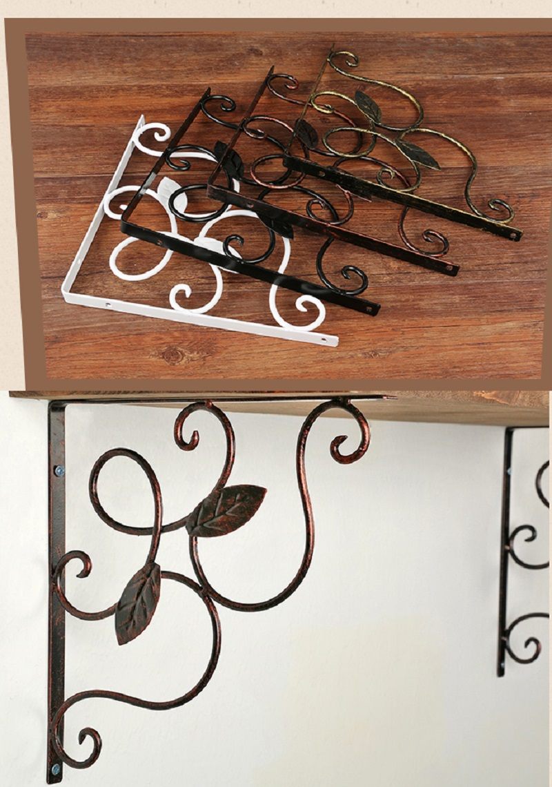 2Pcs/Lot American Vintage Iron Shelf Bracket Shelving Support With Screws цена